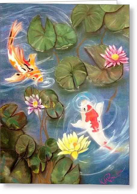 Koi Pond Greeting Card