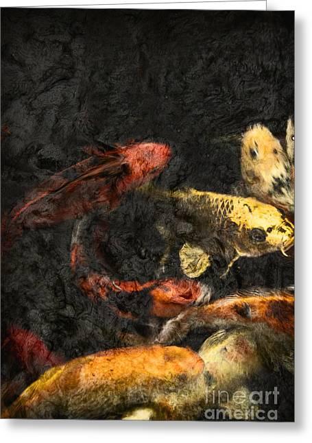 Koi Pond Greeting Card by Margie Hurwich