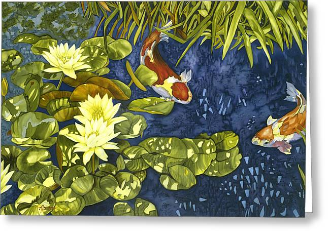 Koi Rendevous Greeting Card