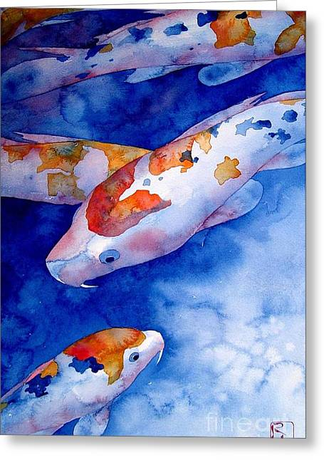 Koi Greeting Card by Robert Hooper