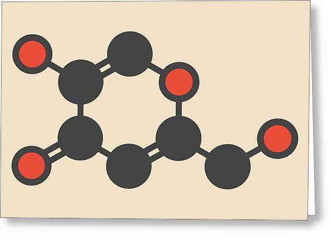 Kojic Acid Molecule Greeting Card by Molekuul