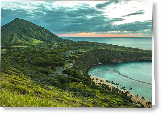 Koko Head Crater And Hanauma Bay 1 Greeting Card
