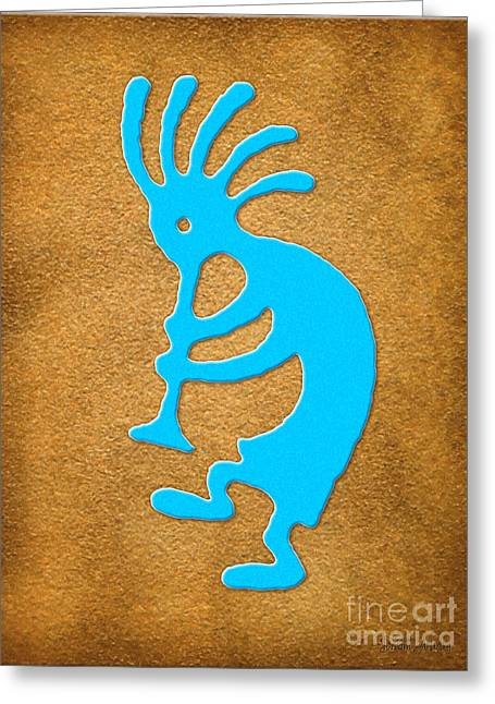 Kokopelli 2 Greeting Card by Cristophers Dream Artistry