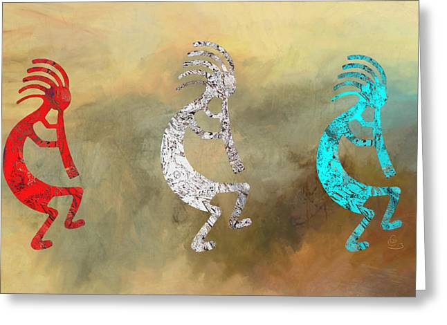 Kokopellis Greeting Card by G Cannon