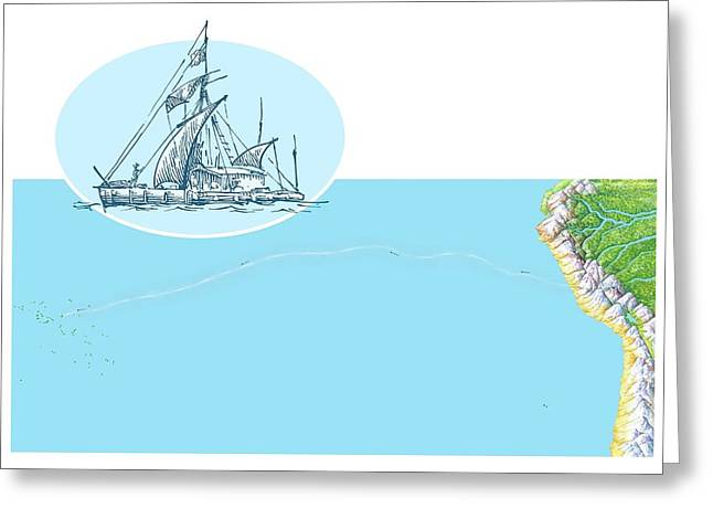 Kon-tiki Expedition Route Greeting Card