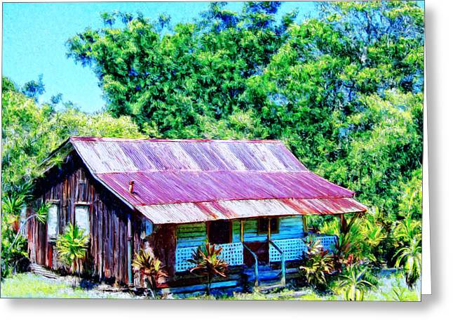 Kona Coffee Shack Greeting Card