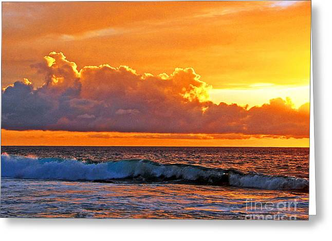 Kona Golden Sunset Greeting Card