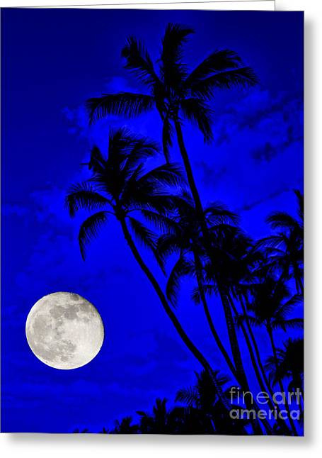 Kona Moon Rising Greeting Card
