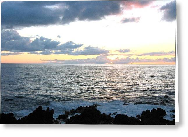 Kona  North Greeting Card by Angela J Wright