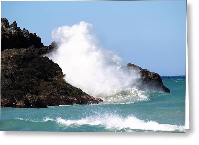 Kona Wave Greeting Card by Athala Carole Bruckner