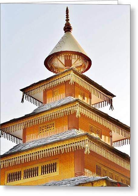 Kondar Devata Temple Greeting Card by Kim Bemis