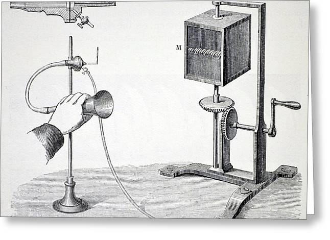 Konig's Flame Manometer Greeting Card by Universal History Archive/uig