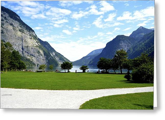 Konigssee Corridor Greeting Card by Marty  Cobcroft