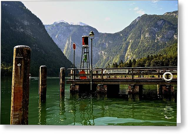 Greeting Card featuring the photograph Konigssee Germany by Marty  Cobcroft