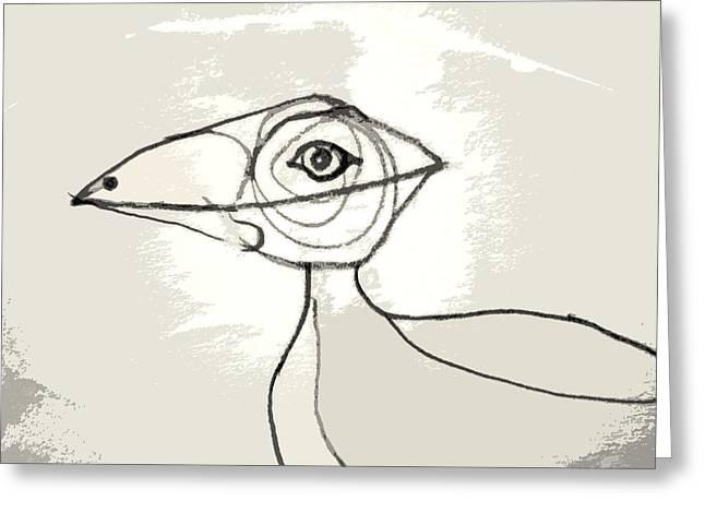 Koo-koo Bird Greeting Card