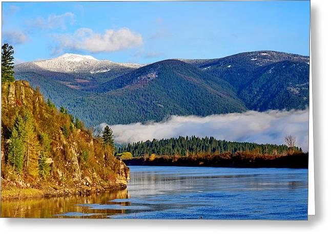 Kootenai River Beauty Greeting Card by Annie Pflueger