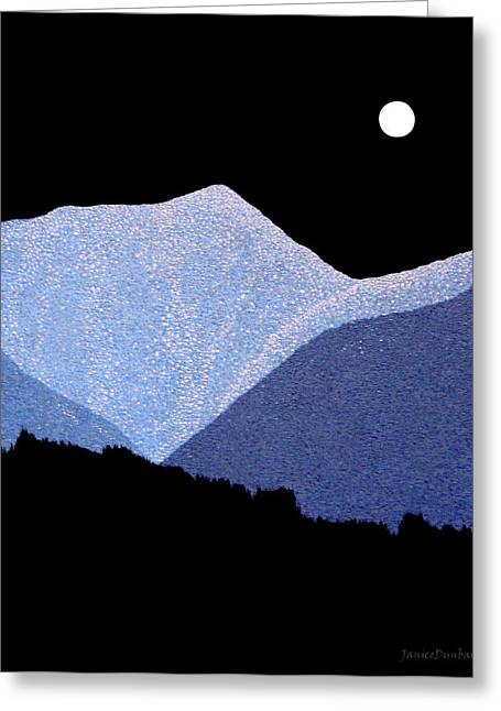 Kootenay Mountains Greeting Card by Janice Dunbar