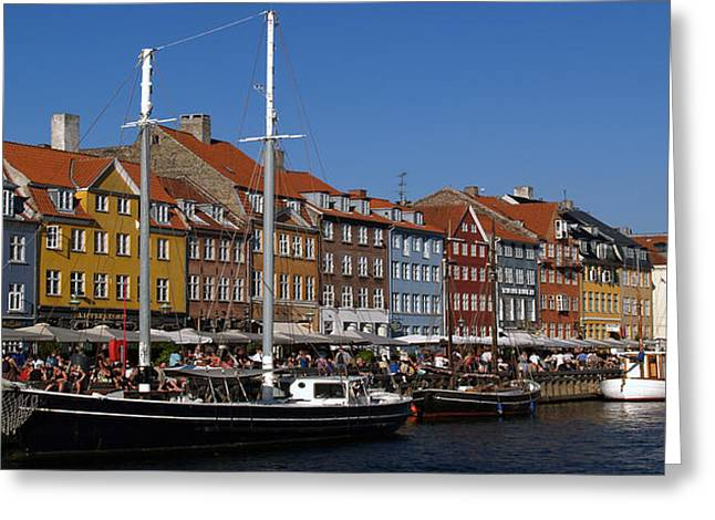 Kopenhavn De Ny Havn 05 Pan Greeting Card