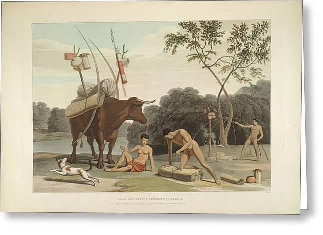 Korah Hottentots Greeting Card by British Library