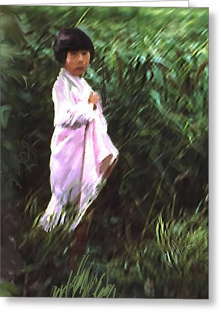 Korean Child Greeting Card by Dale Stillman