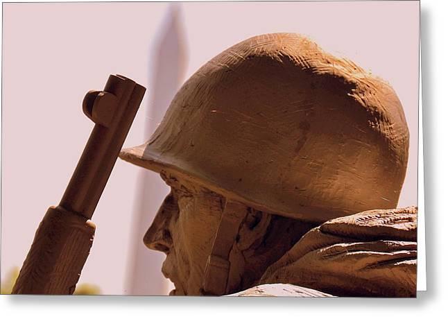 Korean War Memorial 2 Greeting Card