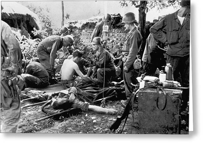 Korean War Wounded Greeting Card