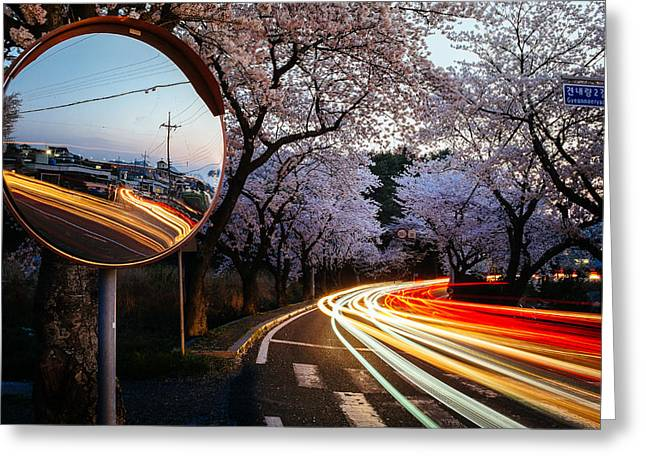 Korea's Roadside Blossoms Greeting Card