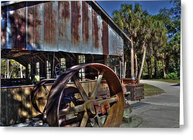 Koreshan State Park Mill Greeting Card by Timothy Lowry