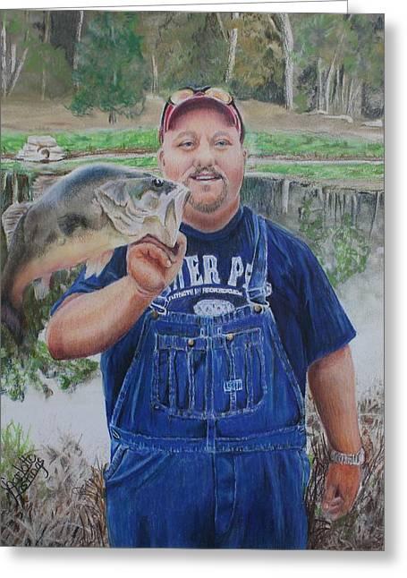 Korey Love Fishing Greeting Card