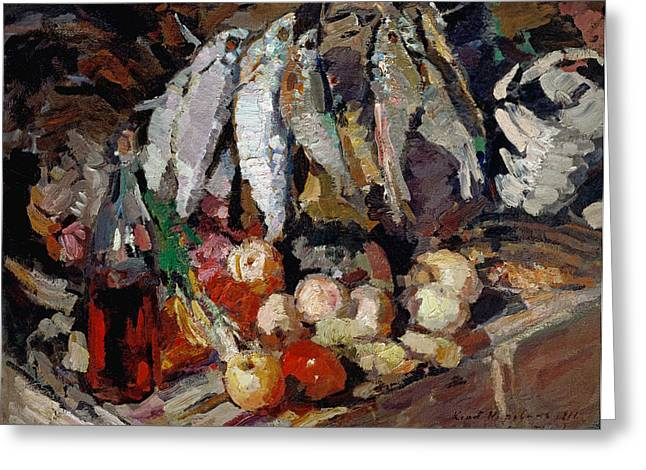 Korovin Fishes, 1916 Greeting Card by Granger