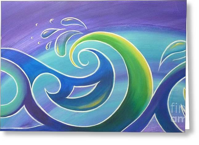 Koru Surf Greeting Card by Reina Cottier