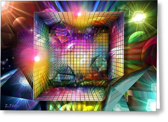 Kosmisches Farbfeuerwerk Greeting Card