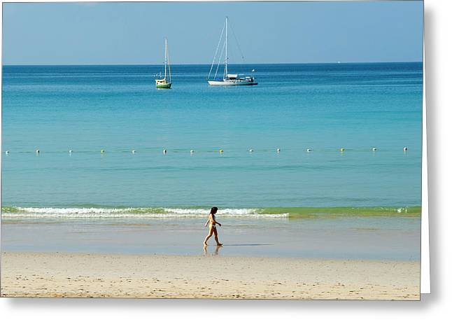 Kota Beach, Phuket, Thailand, Southeast Greeting Card by Nico Tondini