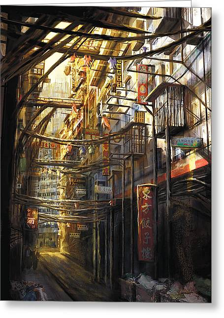 Kowloon Greeting Card by Anthony Christou