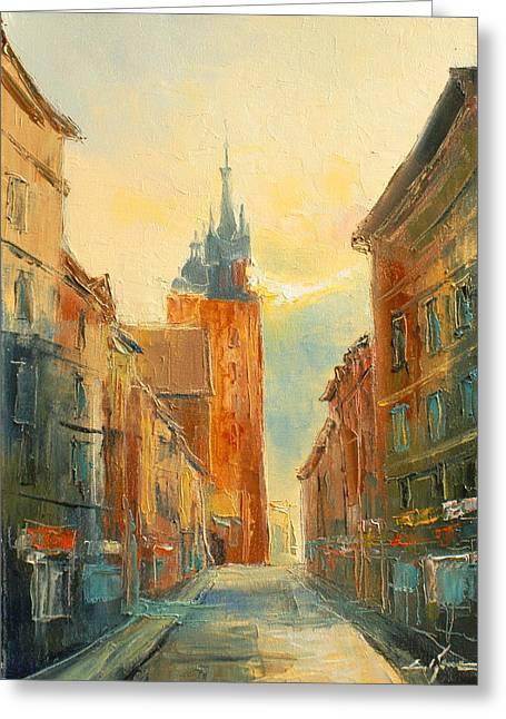 Krakow Florianska Street Greeting Card