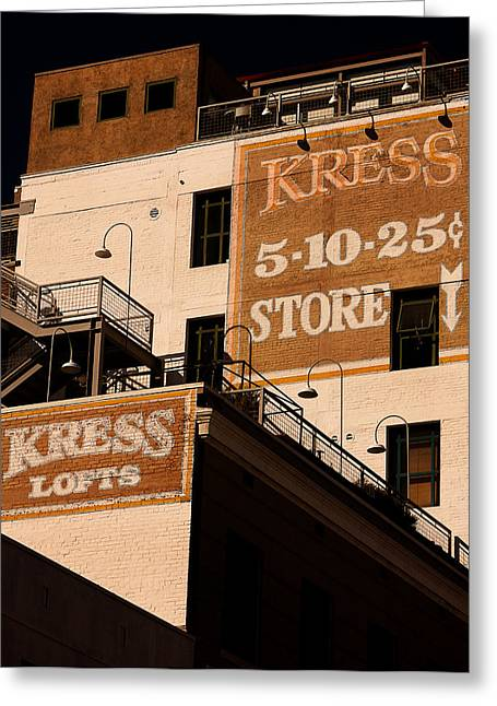 Kress Ghost Signs By Denise Dube Greeting Card