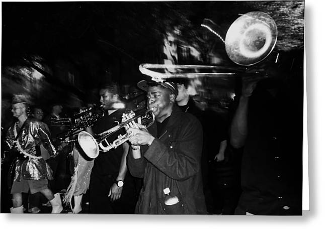 Krewe Du Vieux Parade Brass Band Greeting Card