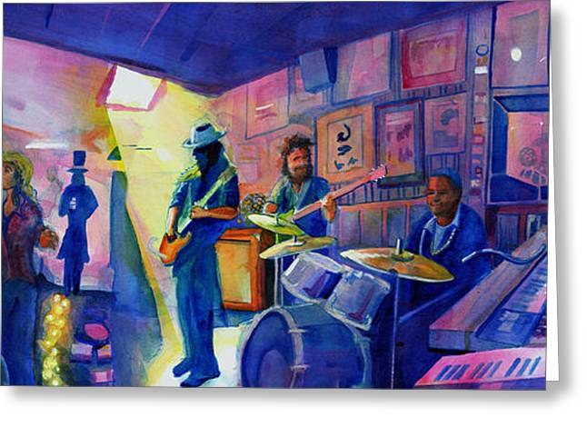 Kris Lager Band At Sanchos Broken Arrow Greeting Card