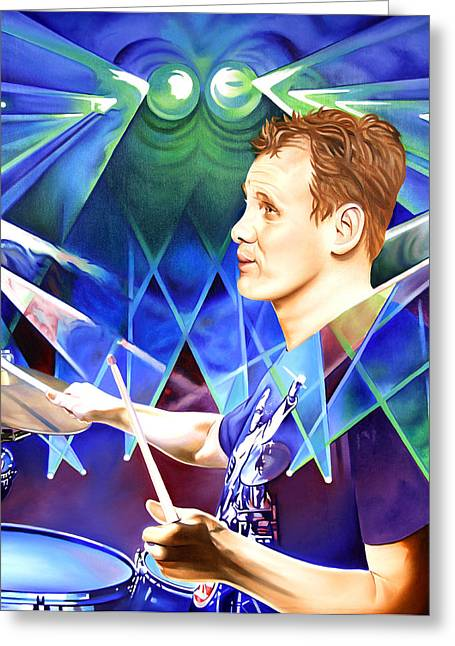 Kris Myers Greeting Card by Joshua Morton