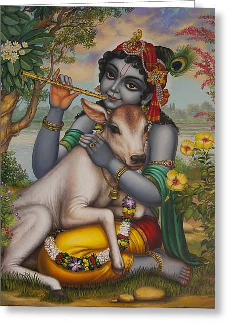 Krishna Gopal Greeting Card by Vrindavan Das