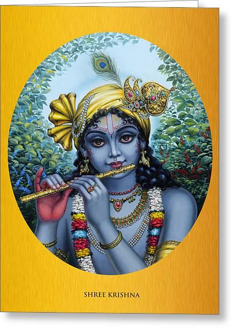 Gopi Greeting Cards - Krishna Greeting Card by Vrindavan Das