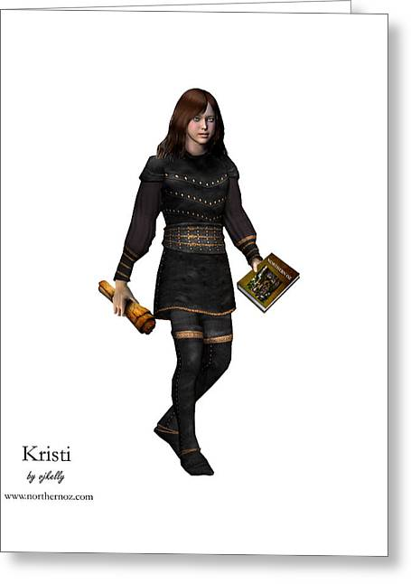 Kristi Greeting Card by Vjkelly Artwork