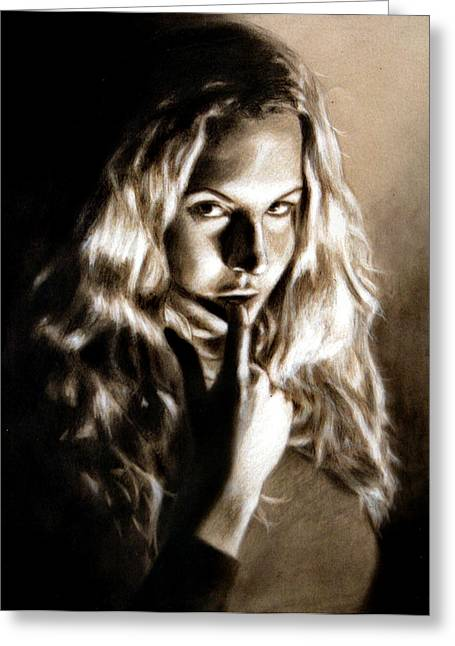 Kristy By Edward Pollick Greeting Card