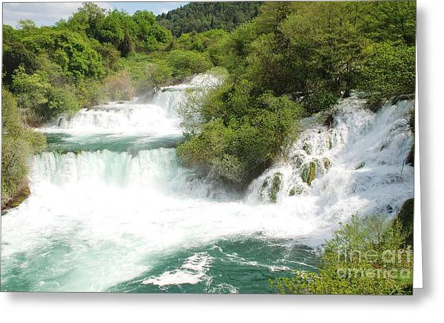 Krka Waterfalls Croatia Greeting Card