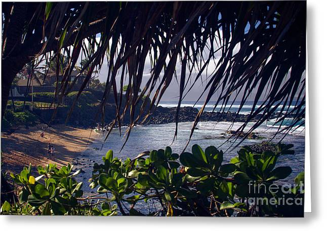 Kuau Paia Maui North Shore Hawaii Greeting Card by Sharon Mau