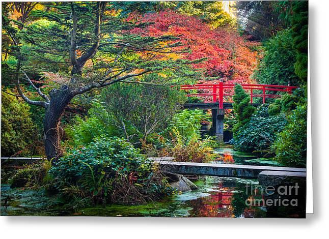 Kubota Gardens In Autumn Greeting Card