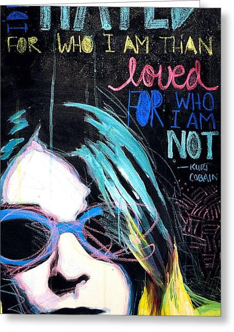 Kurt Cobain Greeting Card by Erica Falke