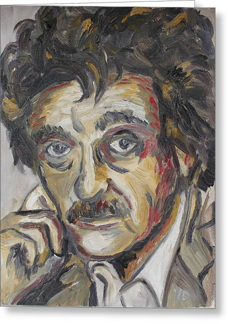 Kurt Vonnegut Greeting Card by Emily Hart