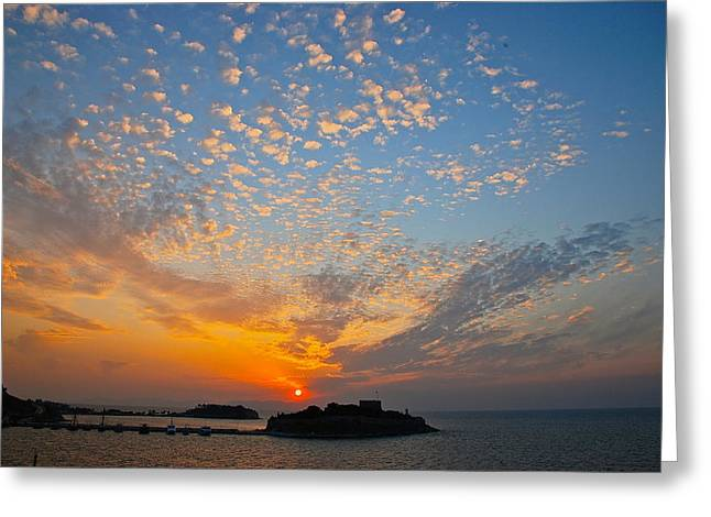 Kusadasi Sunset Greeting Card by Eric Tressler