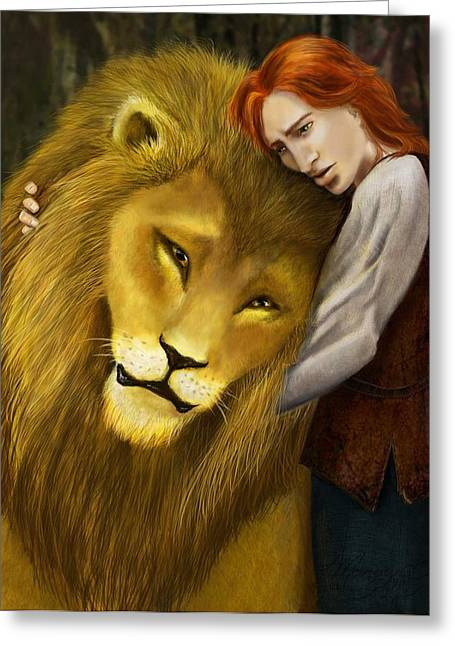 Kvothe And Aslan Greeting Card